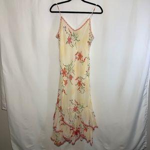 VINTAGE cream floral dress